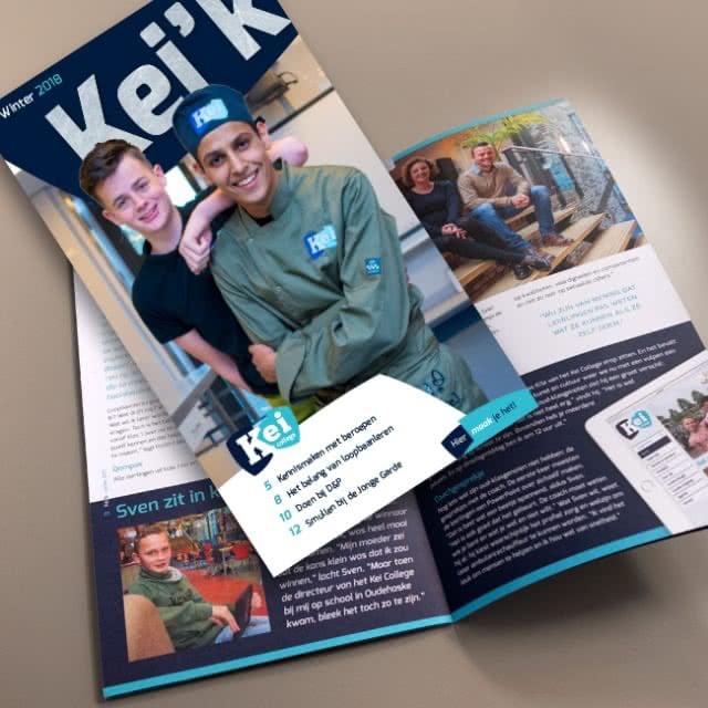 Kei College magazine ontwerp