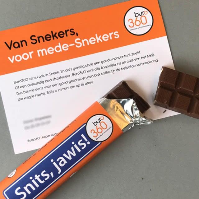 Creatieve direct mailing met chocolade voor Buro360