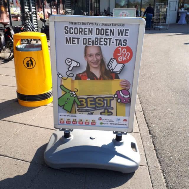 BEST-tas campagne - Stoepbord