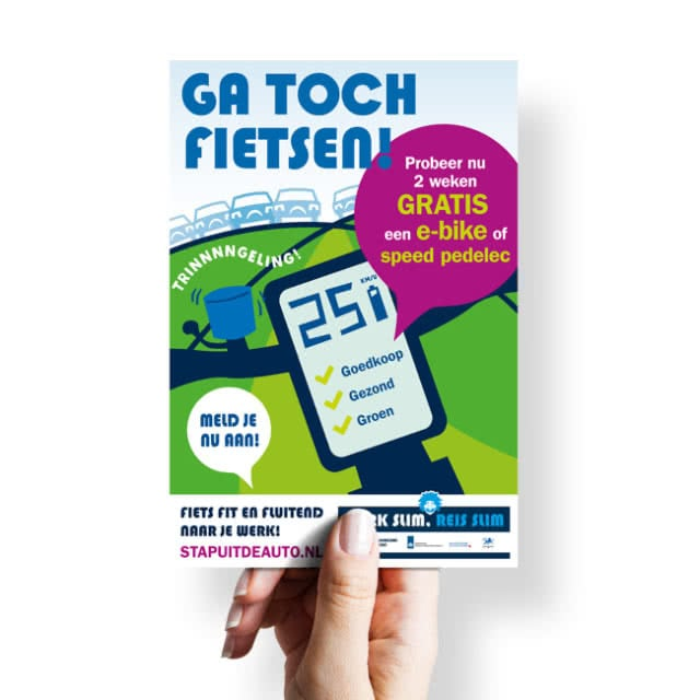 E-bike probeerweken flyer