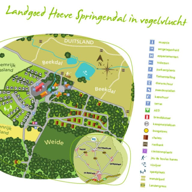 Parkoverzicht van Landgoed Hoeve Springendal