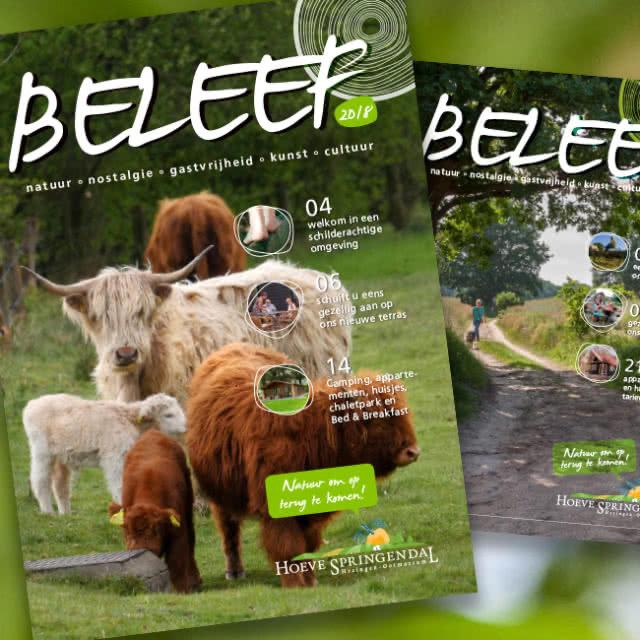 Magazine ontwerp voor Landgoed Hoeve Springendal