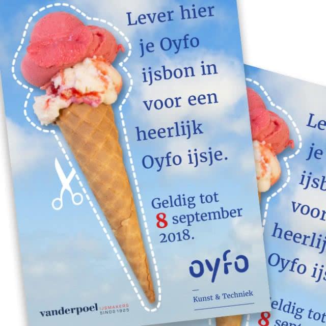 Ontwerp ijsbon voor Oyfo