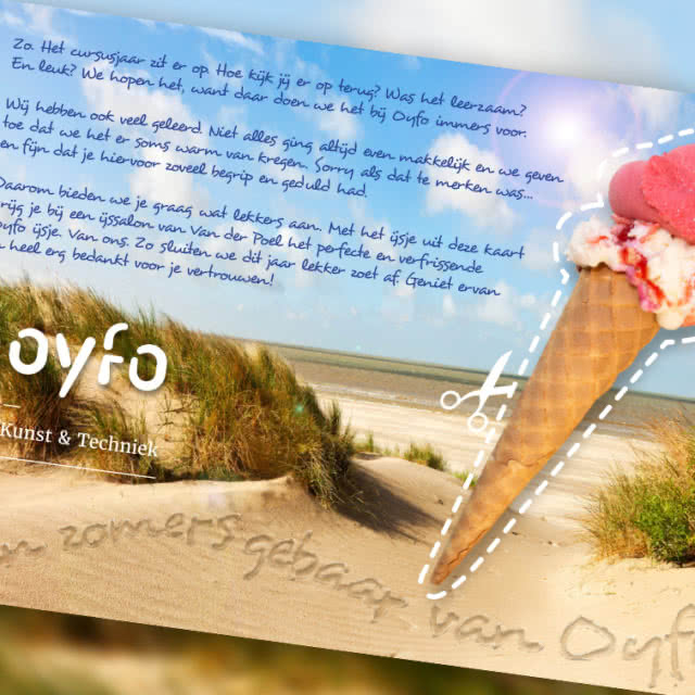 Direct mailing ijsjescampagne Oyfo