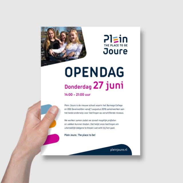 Ontwerp voor open dag Plein Joure