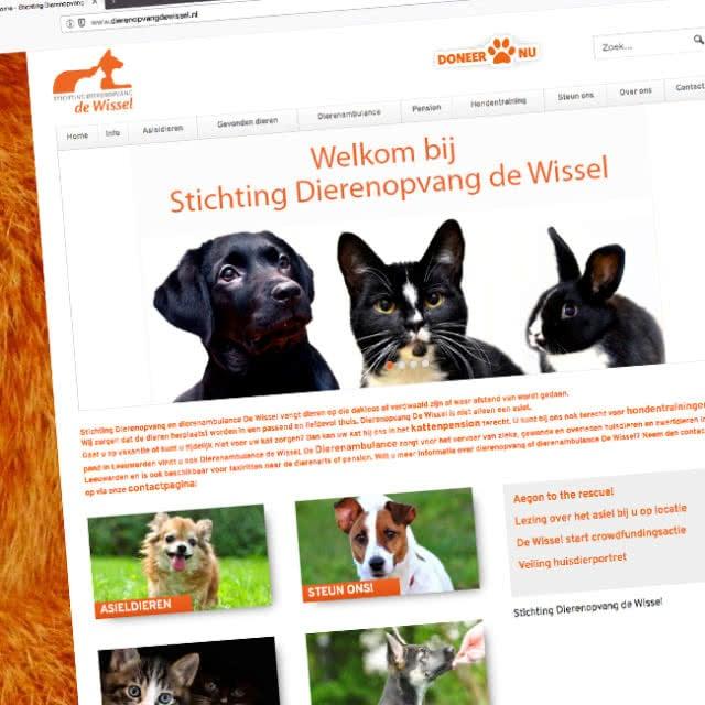Website van dierenopvang de Wissel
