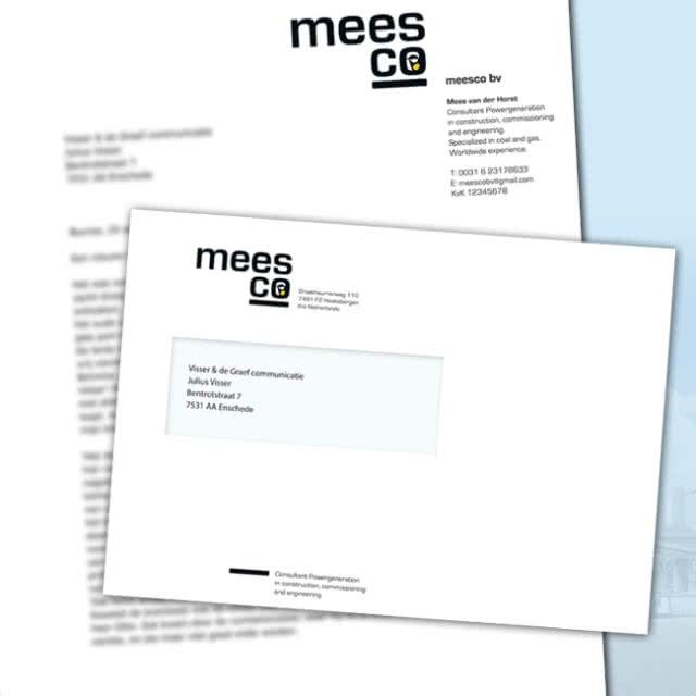 Ontwerp briefpapier Meesco